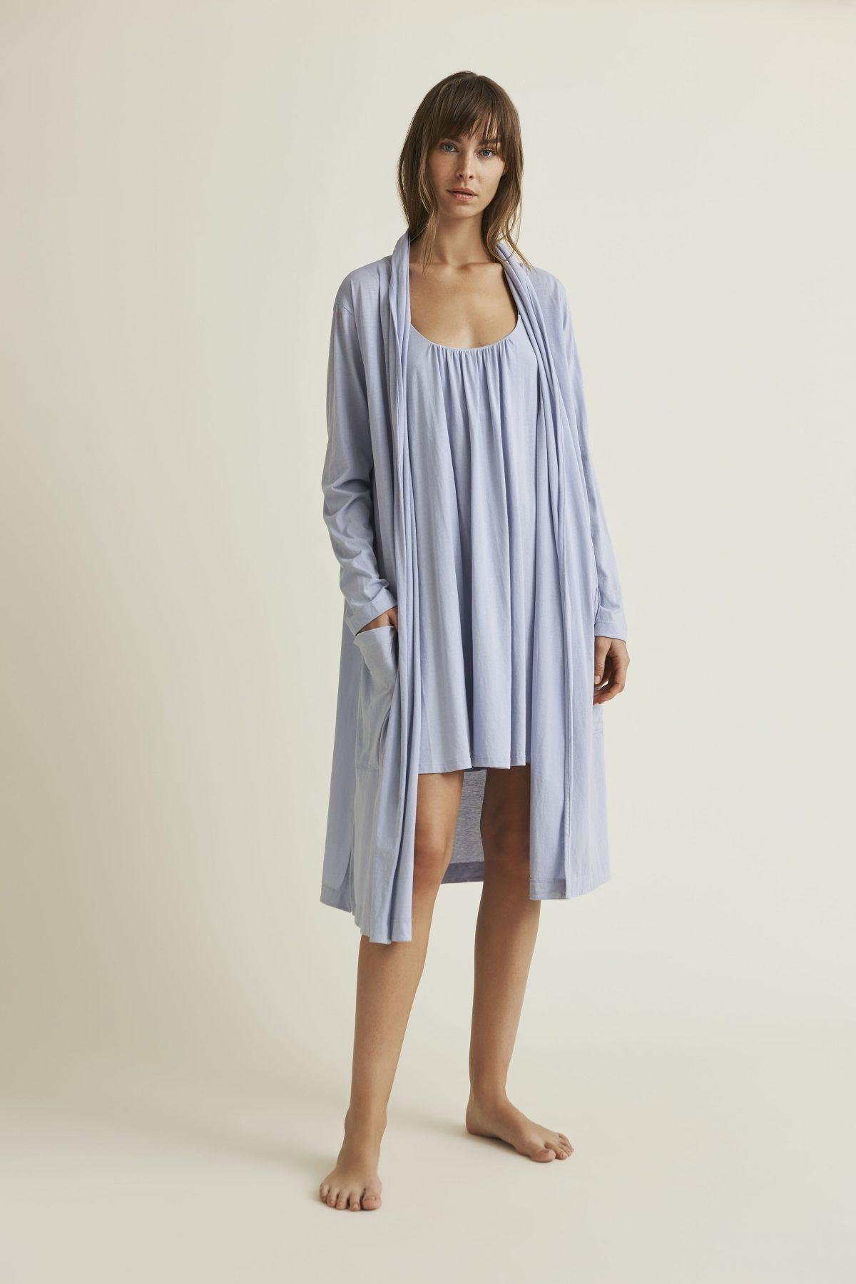SKIN Kathie Pima Cotton Robe ALT