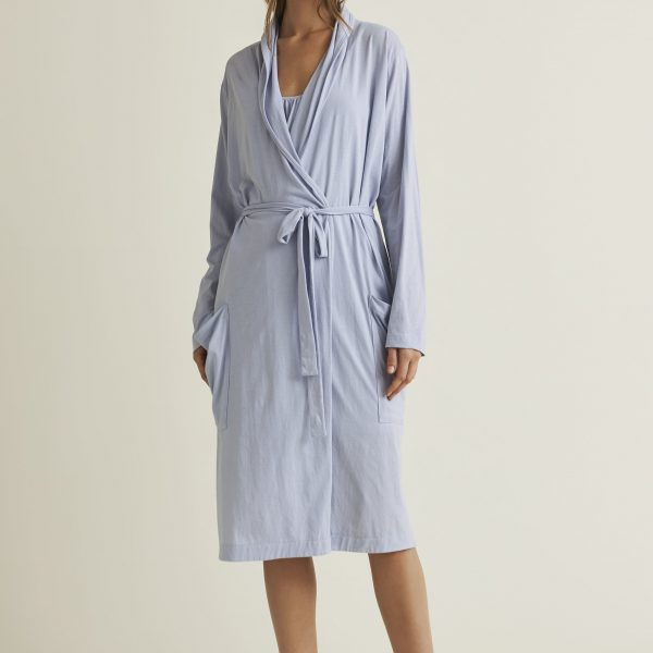 SKIN Kathie Pima Cotton Robe Front